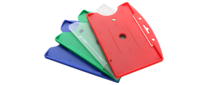 Rigid plastic card holders