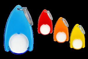 Kolorowe breloki z żetonem FlowS